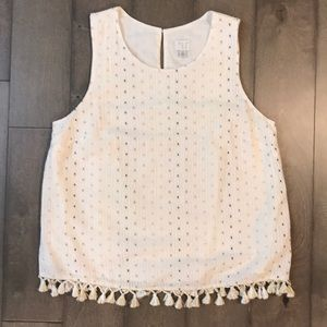 A new day cream with metallic detail tank top